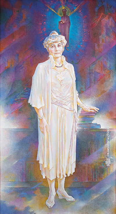 Л.Р. Цесюлевич. Урусвати (портрет Елены Рерих).