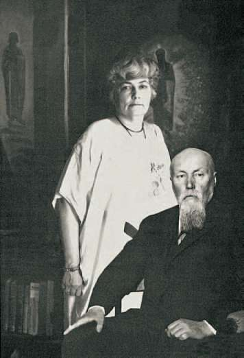 Helena and Nicholas Roerich
